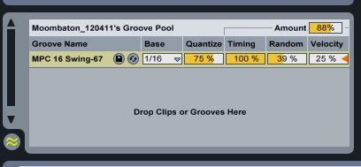 Groove Pool settings