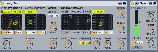Gated reverb settings