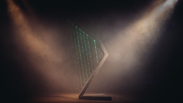 The laser harp created by Nuno Santos and Rui Antunes.