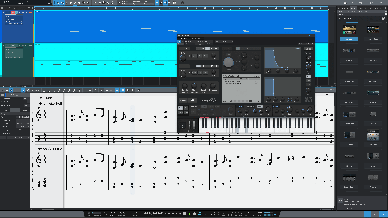 Studio One 5.2 - tablature in the score view