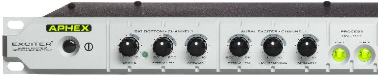 The Aphex Exciter's front panel controls.