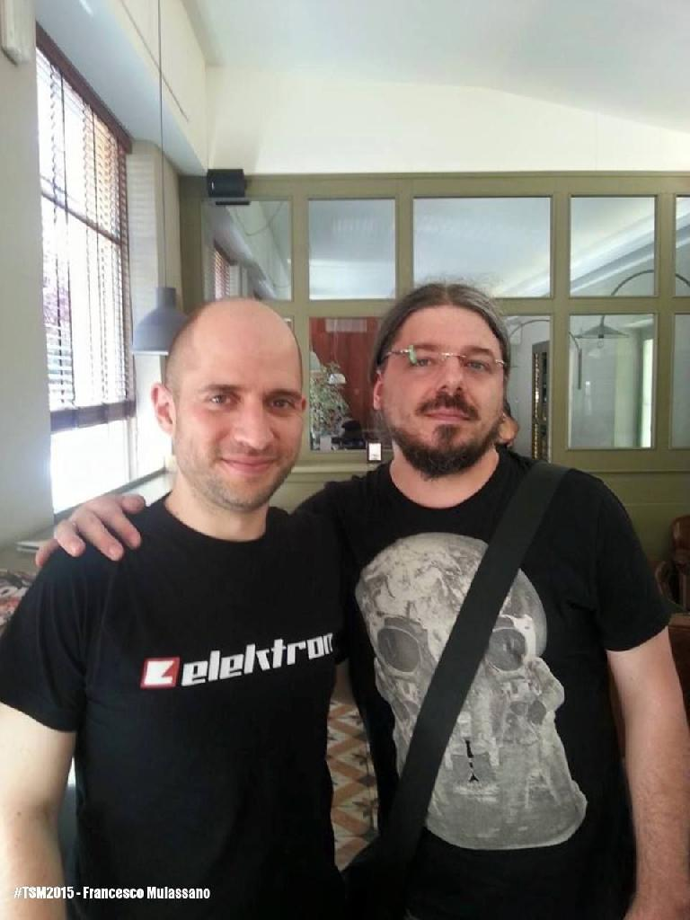 c) Cenk Sayinli (Projekt Dataline) from Elektron and Francesco Mulassano