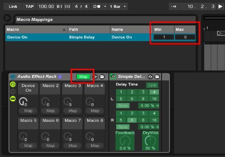 min-max MIDI mapping