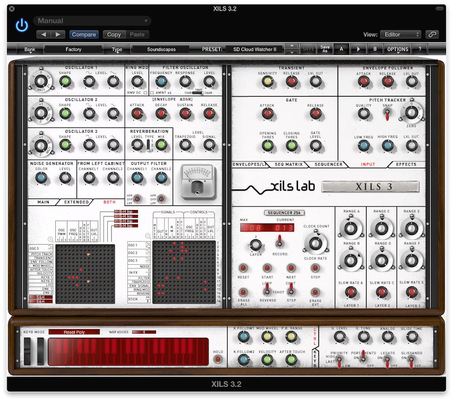 Pic 8 The Input panel, for using the XILS 3.2 as an Effects Generator with external sources