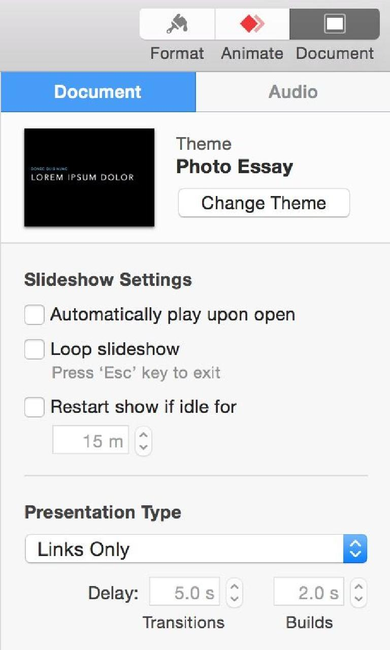Links only is a great way to limit how a presentation can be explored.