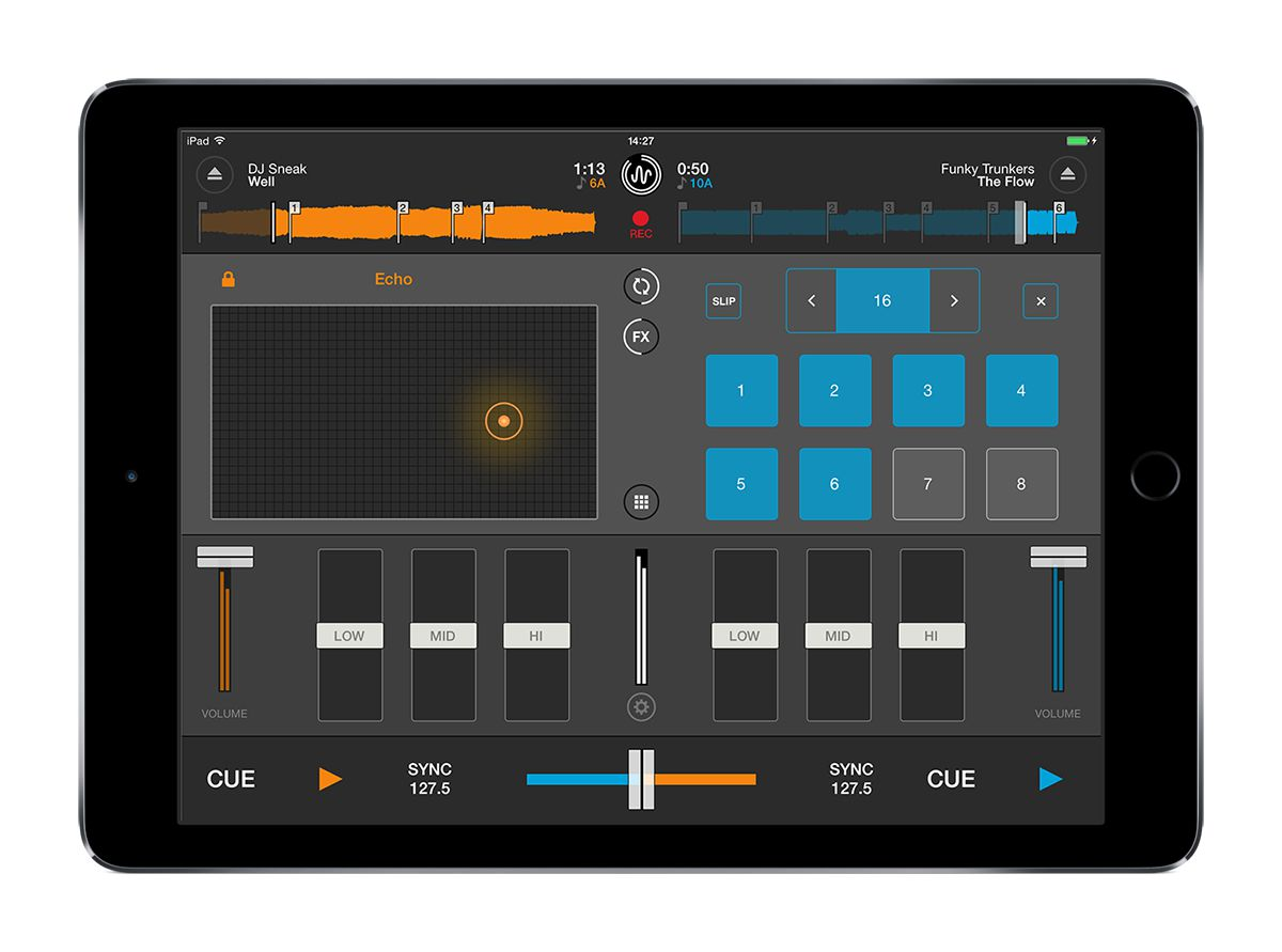 Cross DJ 2 for iOS Effects and Loops screen