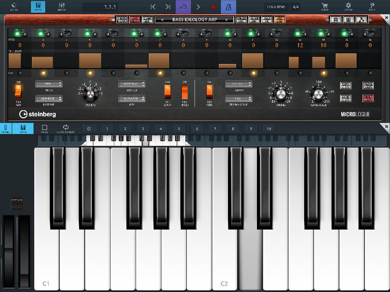 Micrologue ARP in Cubasis 2.7