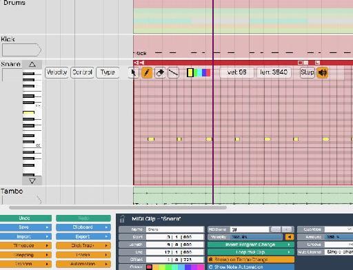 MIDI Inline Editing