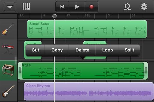 MIDI Edit controls