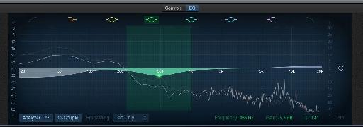 The EQ has its own tab in the Smart Controls panel.