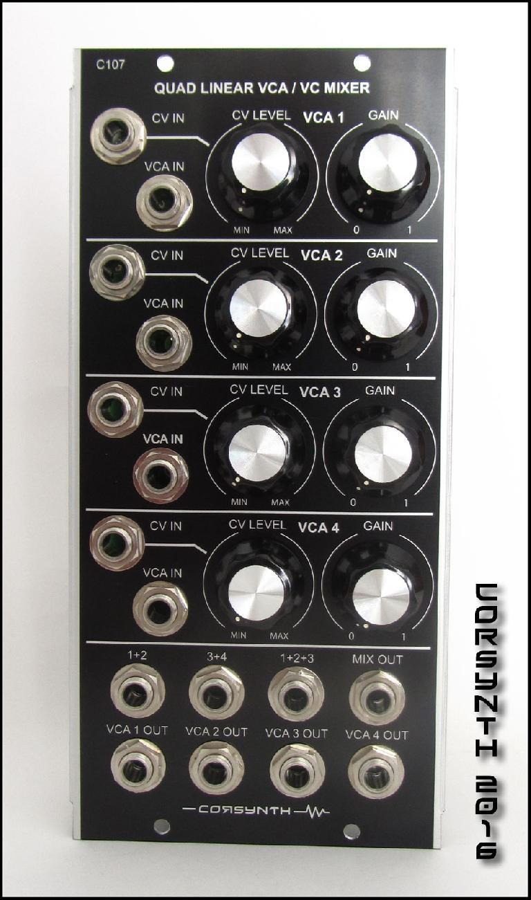 Corsynth 107 Quad Linear VCA / VC Mixer