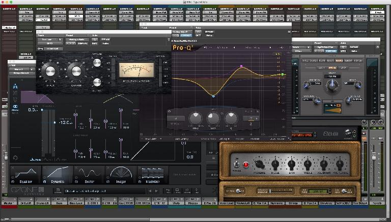 Fig 1 Various mix processors (compression, EQ, reverb, distortion)