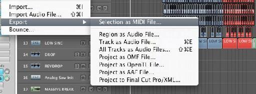 Export MIDI in Logic