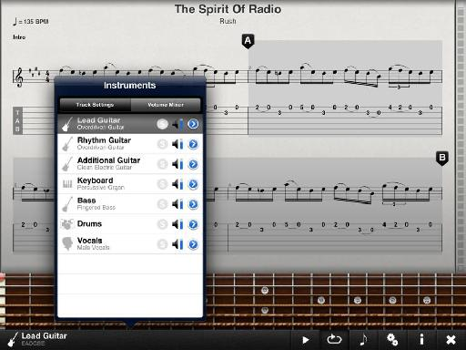 Tab Toolkit : Tab Toolkit lets you load in your own guitar tablature or purchase sheet music for guitar.