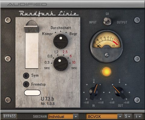Audified U73b Compressor plugin.