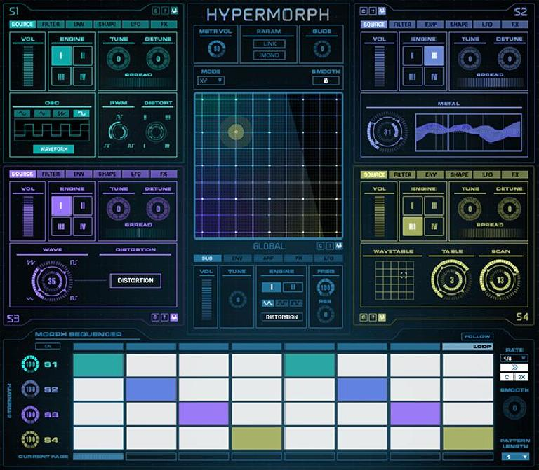 Sonic Faction Hypermorph M4L device GUI