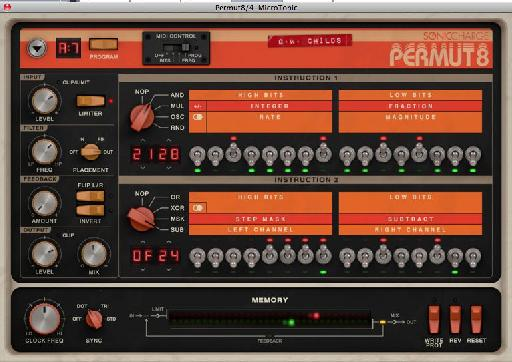 The Permut8 interface.