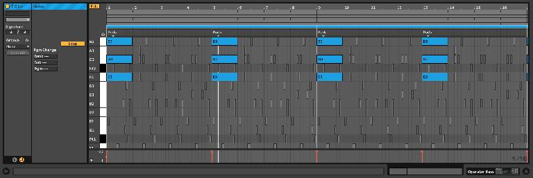 4-bar Wavetable Pads in focus