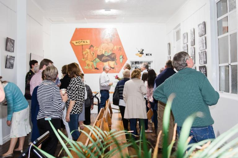 The launch of The Bushmans Gallery, where you can see some iPad kiosks to the left of center — Photo courtesy Lisa Alexander Photography