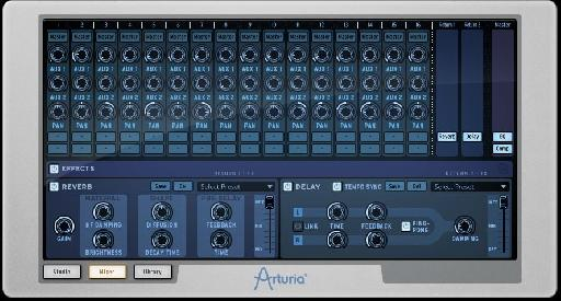Effects can be accessed from the mixer section.