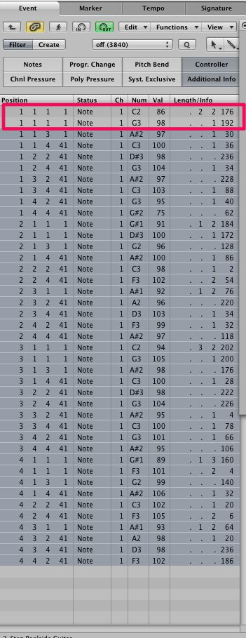 Deselect notes on downbeat of measure one