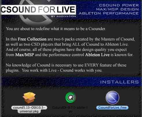 CSound For Live Package