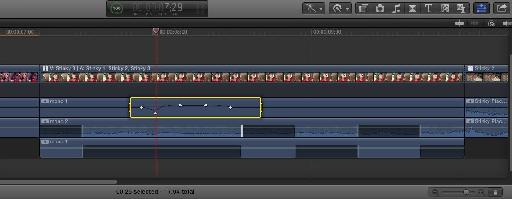 Working with pan and filter keyframes inside the timeline