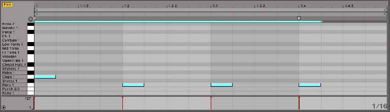 Dead simple MIDI synchronization beat from a Drum Rack.