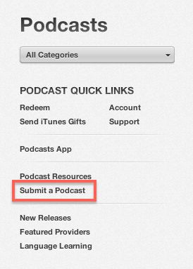 Submit a podcast