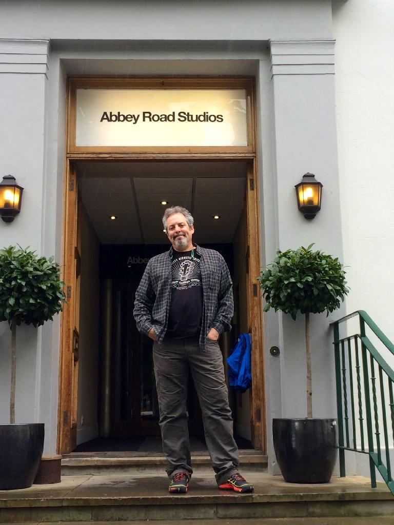 The author at Abbey Road