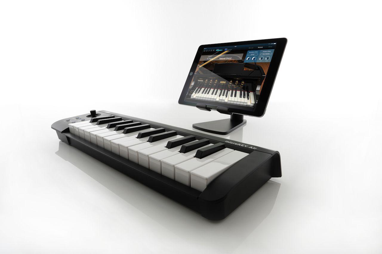 Korg microKey Air MIDI Keyboard with iPad