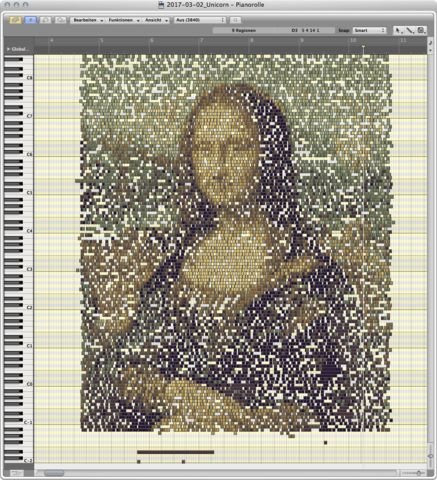 Mona Lisa in MIDI