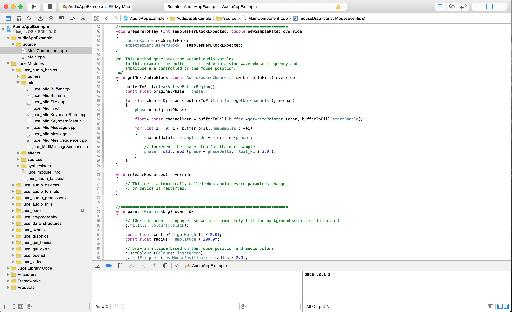 A JUCE project within Apple's Xcode IDE