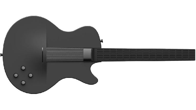 MI Guitar in black.
