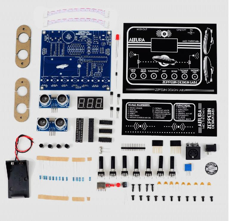Altura MIDI theremin controller DIY kit.