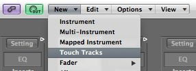Create a Touch Tracks object