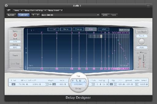 Logic Pro sports a high complex delay generator in the form of it's Delay Designer.
