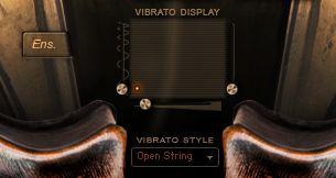 Vibrato Control Interface on Main Window