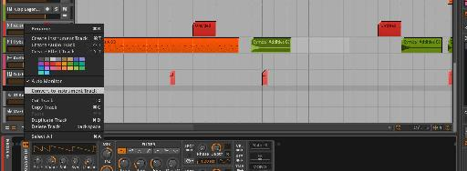 Hybrid Tracks can hold both MIDI and audio clips.