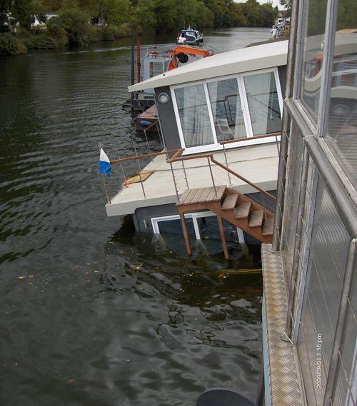 David O'Brien's houseboat back in 2010.