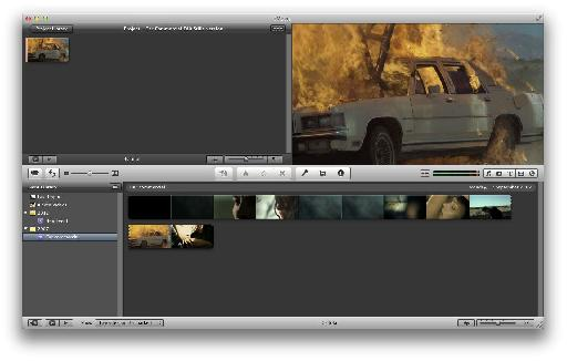 Duplicate iMovie project with only freeze-frames remaining.