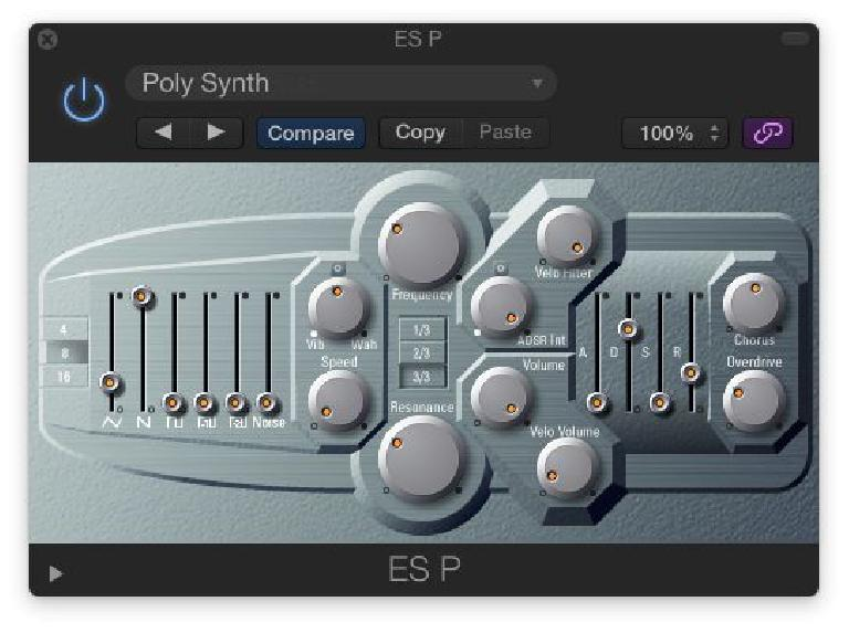 The ES P emulates classic polyphonic synths.