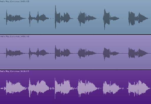 The effect of the different compressors on the audio
