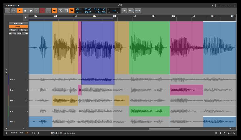 Bitwig Studio 4 comping