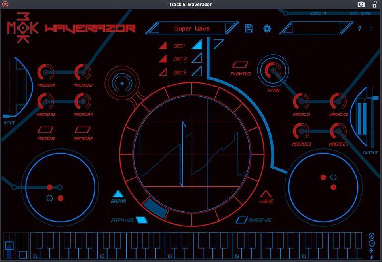 Tracktion Waverazor synth plugin.