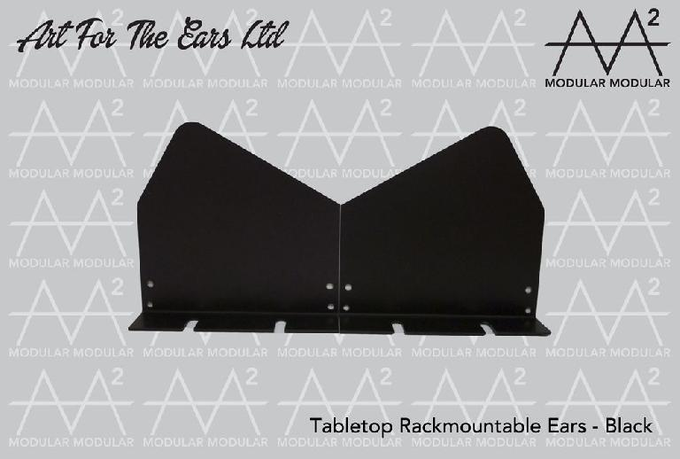 Art For The Ears rack mountable ears sit nicely on a tabletop