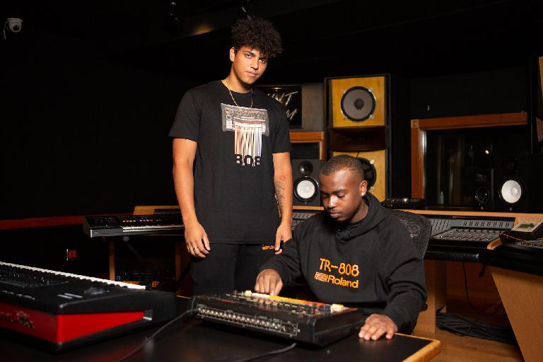 Roland apparel in the studio