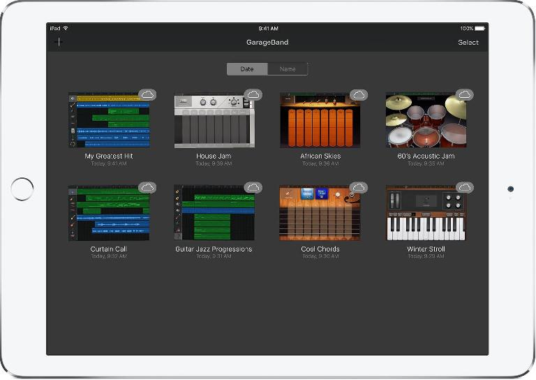 GarageBand for iOS is one of the many iOS apps with iCloud integration