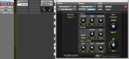 Figure 1 – Filter Gate in Pro Tools