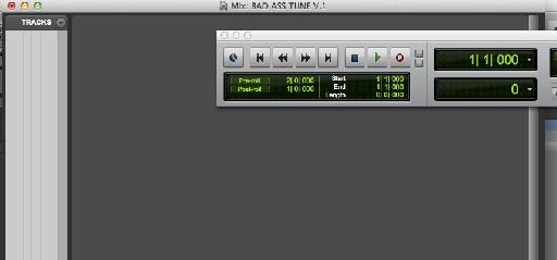 New Pro Tools session correctly names.